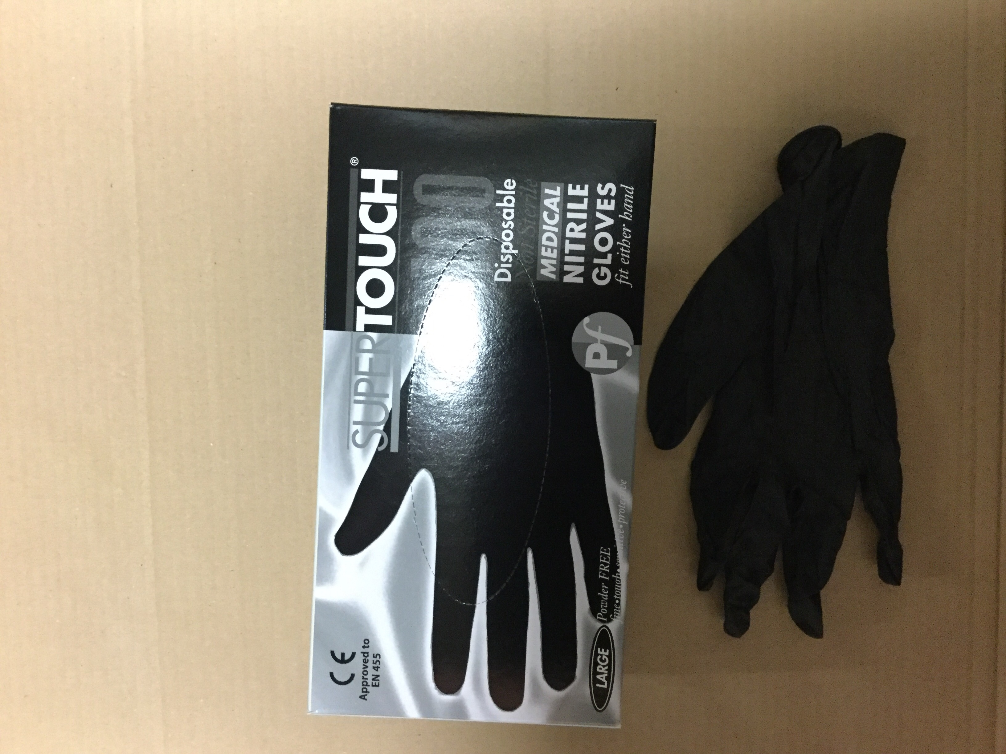 Nitrile gloves BLACK S