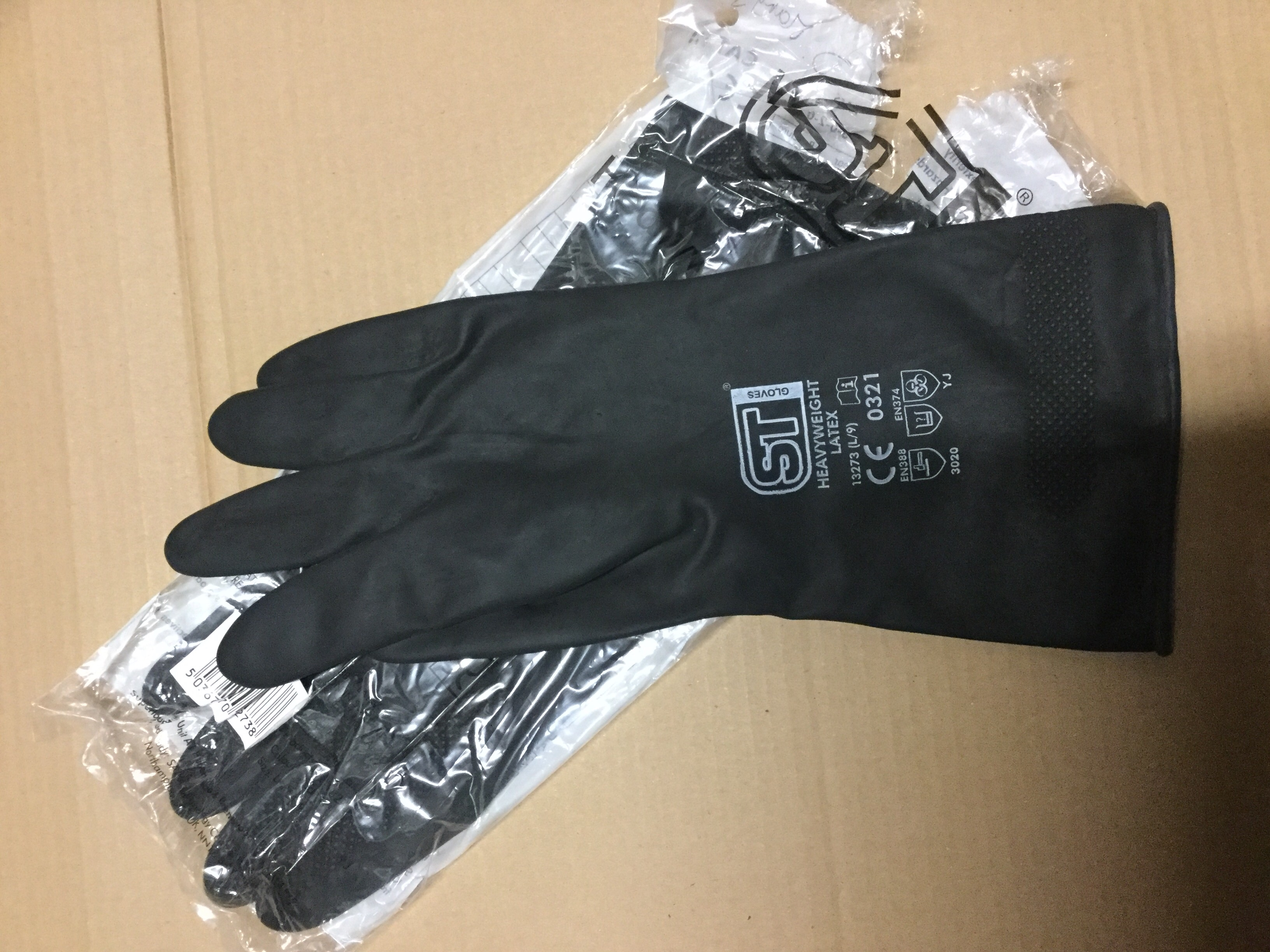 Heavy duty household rubber gloves