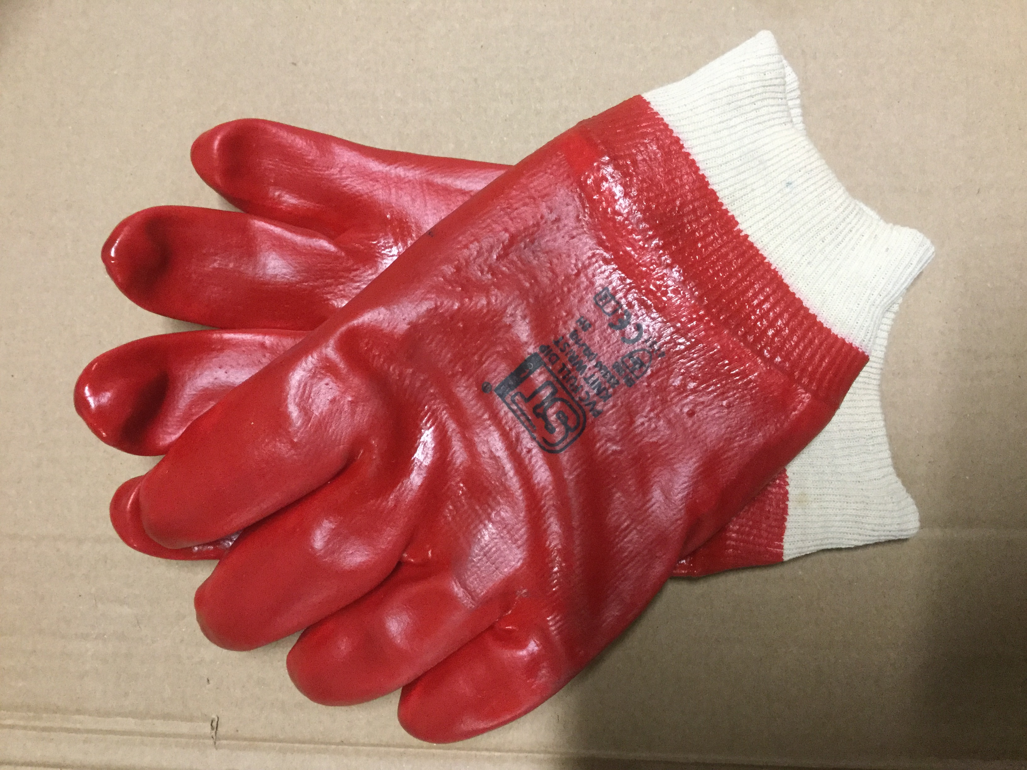 PVC full-dip knit wrist gloves